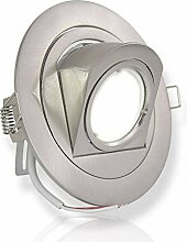 LED Einbaustrahler silber rund 7 Watt neutralweiß