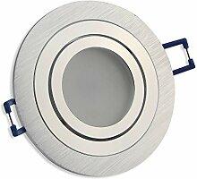 LED Einbaustrahler silber - rund 7 Watt warmweiß
