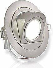 LED Einbaustrahler silber rund 7 Watt warmweiß