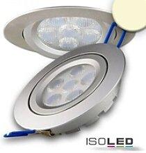 LED Einbaustrahler silber rund flach 15W 850lm