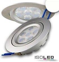 LED Einbaustrahler silber rund flach 15W 950lm