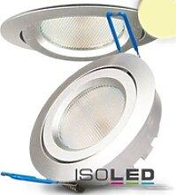 LED Einbaustrahler silber rund flach 8W 550lm