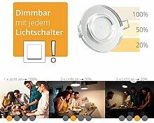 LED Einbaustrahler super flach Einbautiefe nur