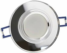 LED Einbaustrahler transparent - rund aus Glas 7