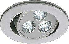 LED Einbaustrahler TRITON 3 LED, Downlight 3x1W,