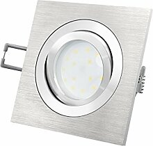 LED-Einbaustrahler Ultra flach (30mm) QF-2 eckig
