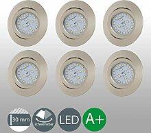 LED Einbaustrahler ultra Flach Inkl. 6 x 5W 400lm