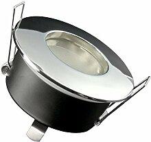 LED-Einbaustrahler Ultra flach RW-1 rund chrom