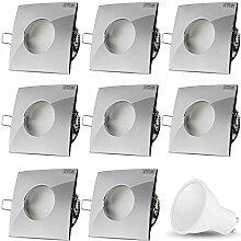 LED Einbaustrahler VENEDIG (Chrom) Quadratisch