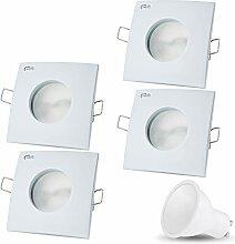 LED Einbaustrahler VENEDIG (Weiss) Quadratisch