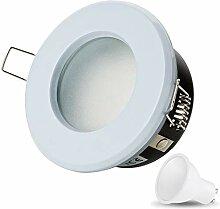 LED Einbaustrahler VENEDIG (Weiss) Rund Inkl. 1 X
