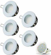 LED Einbaustrahler VENEDIG (Weiss) Rund Inkl. 5 X