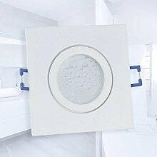 LED Einbaustrahler weiß - eckig neutralweiß 5