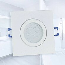 LED Einbaustrahler weiß - eckig warmweiß 5 Watt