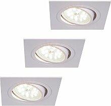 LED-Einbaustrahler weiß | Einbauleuchte weiß 3er