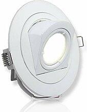 LED Einbaustrahler weiß rund 5 Watt warmweiß 12V