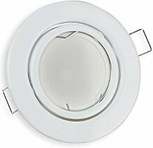 LED Einbaustrahler weiß rund 7 Watt warmweiß 12V
