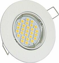 LED Einbaustrahler - Weiß rund | Schwenkbar |