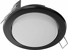 LED Einbaustrahler Zobe flach GX53 schwarz rund