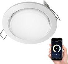 LED Einbaustrahler Zobe flach GX53 weiß rund mit
