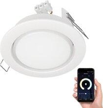 LED Einbaustrahler Zobe II flach GX53 weiß matt