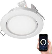 LED Einbaustrahler Zobe II flach GX53 weiß rund