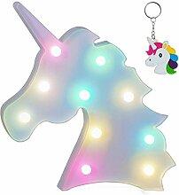 LED Einhorn Regenbogen Licht,Lampe Einhorn