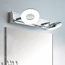 LED Eisen Edelstahl Acryl Richtungsbeleuchtung Scheinwerfer Wandspiegel Frontleuchte Wasserdicht und einfach Modern für Bad/Make-up Spiegel,4head-58cm-20W-warm