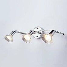 LED Eisen Edelstahl Direction Beleuchtung Scheinwerfer Wandspiegel Frontleuchte Wasserdicht und einfach Modern für Bad/Make-up Spiegel, 2-Kopf-weiß
