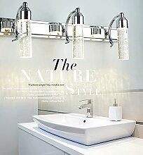 LED Eisen Edelstahl Richtungsbeleuchtung Scheinwerfer Wandspiegel Frontleuchte Wasserdicht und einfach Modern für Bad/Make-up Spiegel,4head-12W-58cm-warm