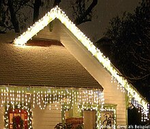 LED Eisregen-Lichterkette 960 warmweisse LEDs