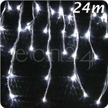LED Eiszapfen Lichterkette 24m Schneefalleffekt