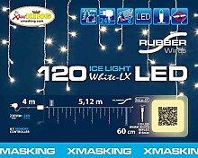 LED Eiszapfen-Lichterkette 5 x 0,6 m, 120 Leds