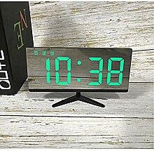 Led elektronische uhr uhr borderless tv wecker