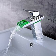 LED-Farbe Wasserhahn Waschbecken