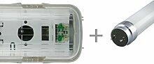LED Feuchtraumlampe 60cm single - IP65 - inkl 1x