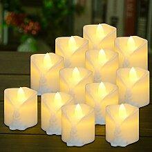 LED Flackern Teelicht mit Timer, PChero 12stk