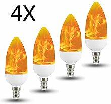 LED Flammen Glühbirne E14, Auccy 3W Flammeneffekt
