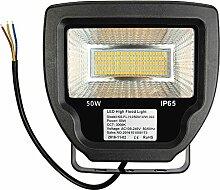 LED Fluter 30W/50W/70W, Cocare T02 Flutlicht Warmweiß/Kaltweiß Scheinwerfer Außenstrahler IP65 120°Abstrahlwinkel Wasserdicht Außenleuchte Wandstrahler(50W Warmweiß)