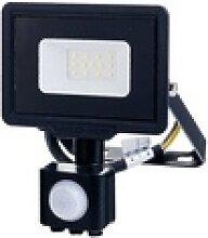 LED-Fluter mit PIR-Sensor, 10 W, 800 lm, 6000 K,