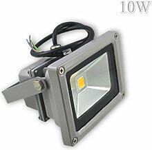 LED Fluter Strahler Aussenleuchte Wandleuchte Scheinwerfer 10W Warmweiß