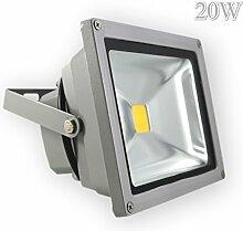 LED Fluter Strahler Aussenleuchte Wandleuchte Scheinwerfer 20W Warmweiß