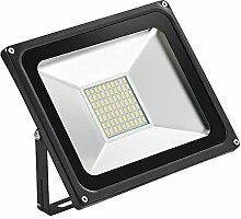 LED Fluter Strahler Energiesparend Hohe Licht 50W SMD5730 Outdoor Flutlicht Scheinwerferlicht, Warmweiß