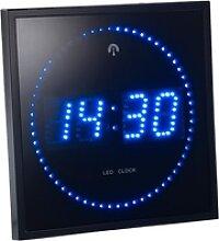 LED-Funk-Wanduhr mit Sekunden-Lauflicht durch