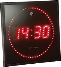 LED-Funk-Wanduhr mit Sekunden-Lauflicht durch rote