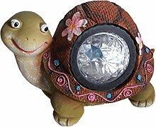 LED Garten Solarleuchten Schildkörte oder Schnecke aus Polyresien für den Garten (Schildkröte)