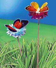 LED Gartenstecker Schmetterling Farbwechsel Gartendeko Teichdeko Gartenteich DEKO