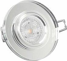 LED GLAS Einbau-Leuchte rund, Decken-Strahler klar