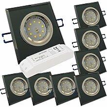 LED Glas Einbaustrahler 12V inkl. 8 x 5W SMD LM
