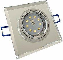 LED Glas Einbaustrahler 230V inkl. 5 x 7W SMD LM